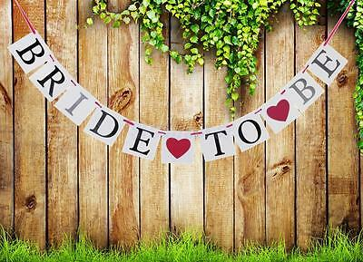 Bride To Be Banner Bunting Garland Wedding Bridal Shower Hen Party Decoration