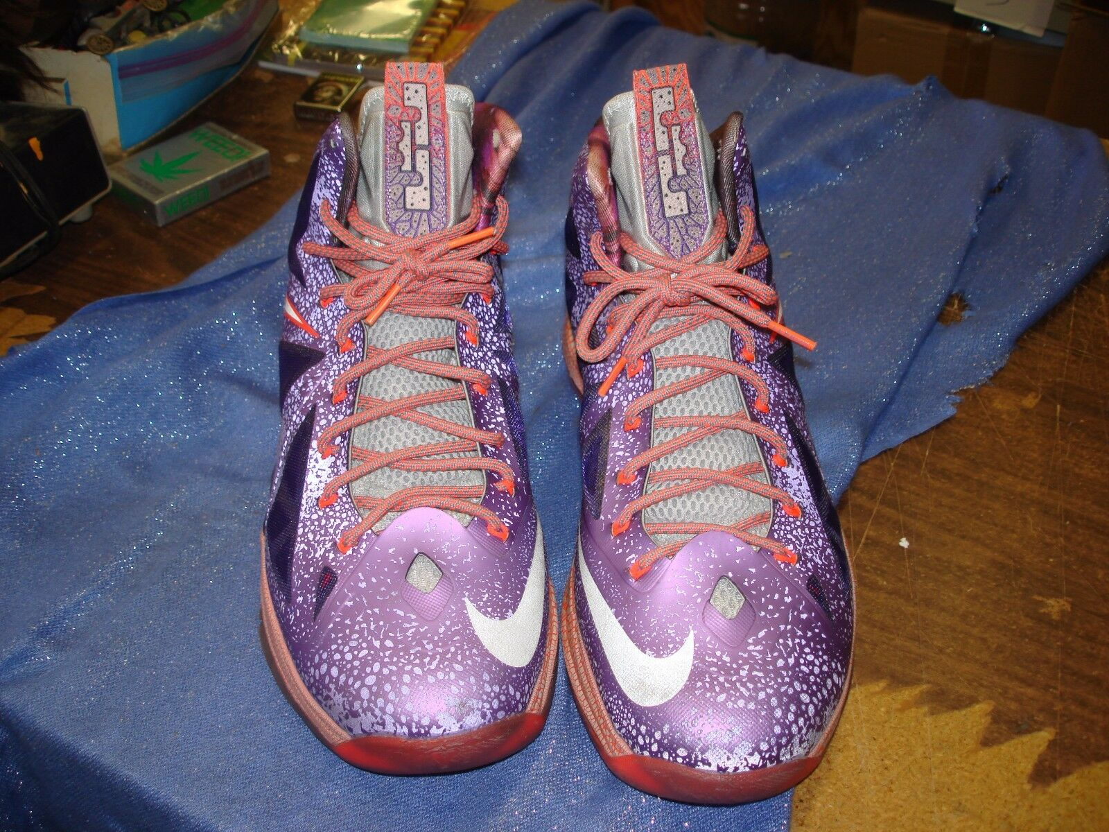 d5628e87d6 Nike Lebron X 10 All Star Purple Grey-Crimson Area 72 All Star 583108-