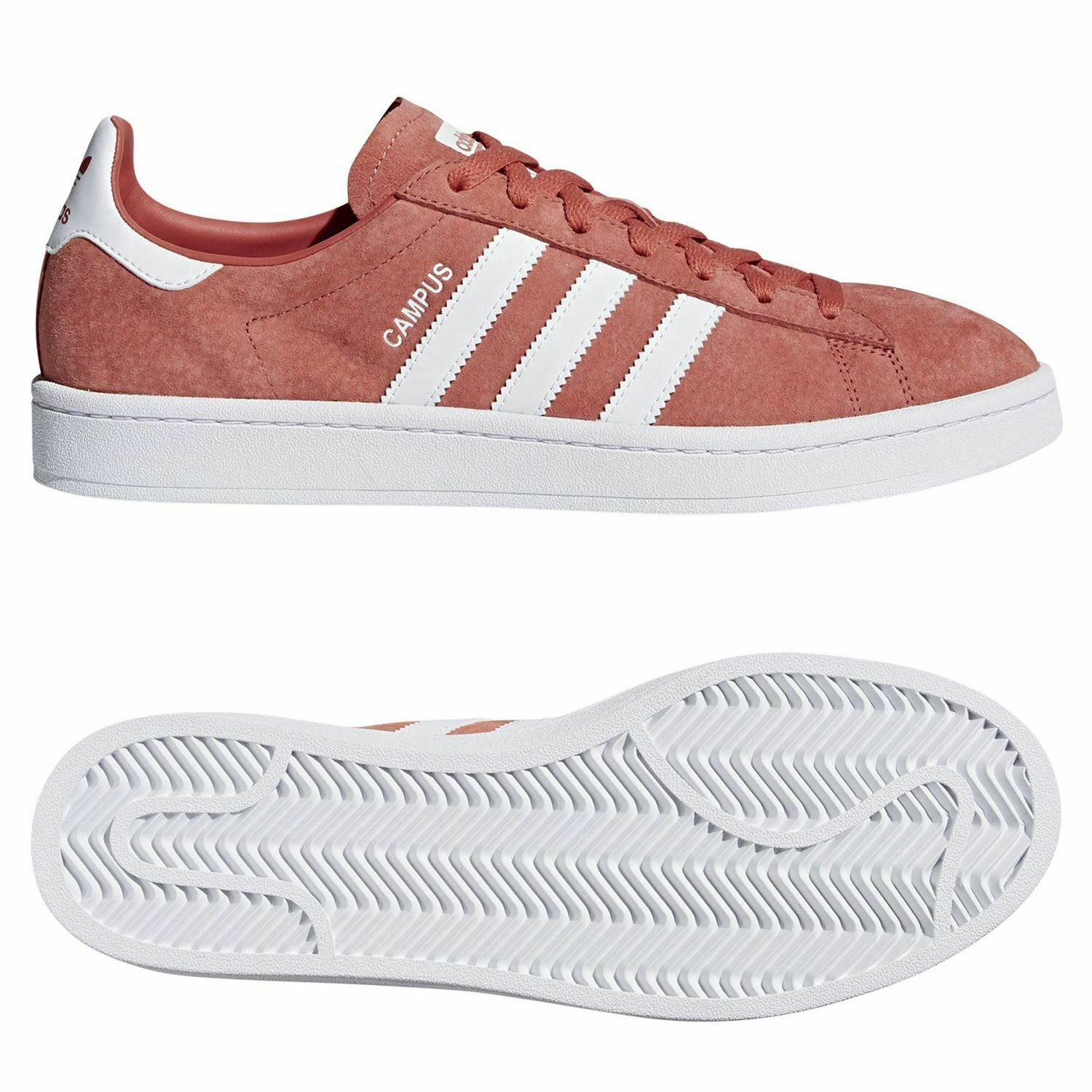 Adidas ORIGINALS MEN'S CAMPUS TRAINERS RED SNEAKERS SHOES TREFOIL NEW