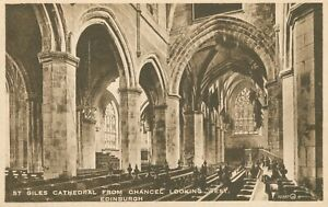 Edinburgh. St. Giles Cathedral from Chancel Looking West (Valentine's) 1910s