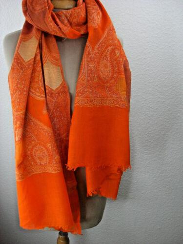 Stola di nella seta Jamawar a Stola Sciarpa lurex di mano Fatta multicolore lana in tecnica di qgw41X8Y