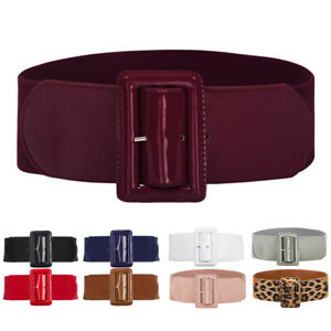 Women Lady Girl Waist Wide Buckle Belt Elastic Bridal Waist Belt PLUS SIZE S-4XL
