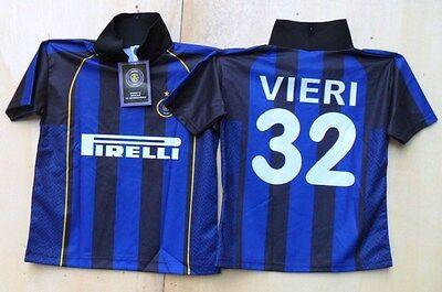 """Acquista A Buon Mercato Inter Prodotto Ufficiale - """"maglia Da Calcio Vieri"""" - Tg. X 2 Anni Qualità E Quantità Assicurate"""