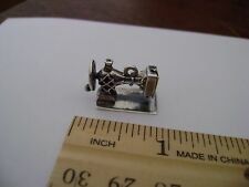 Vtg Sterling Silver Charm Movable 3D Sewing Machine Beau Sterling