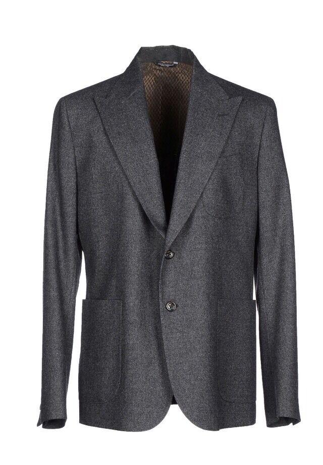 2,500 Dolce&Gabbana grau Flannel Blazer Größe US 42 R, EU 52 R Made in