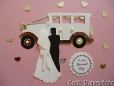 BEAUTIFUL VINTAGE WEDDING CAR DIE CUTS FOR  WEDDING INVITATIONS AND CARD TOPPERS