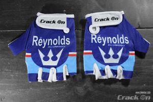Retro Reynolds Road Cycling Team Half Finger Mitts Gloves (Vintage Pinarello)