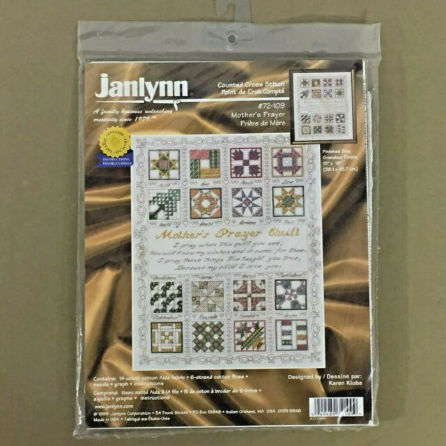 Mother's Prayer cross stitch kit quilt design mom child love family Janlynn new