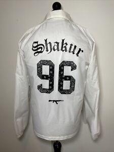 Marche Noir Fall Up Tupac Shakur 2PAC 96 Thug Life White Jacket Windbreaker S