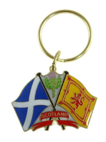 Glen Appin Scottish Crossed Flags Key Ring