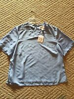 Tog Shop Cropped Blouse Silky Size 10p