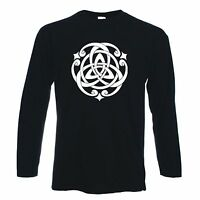 CELTIC KNOT LONG SLEEVE T-SHIRT Pagan Druid Wicca Goth Gothic  - Colour Choice