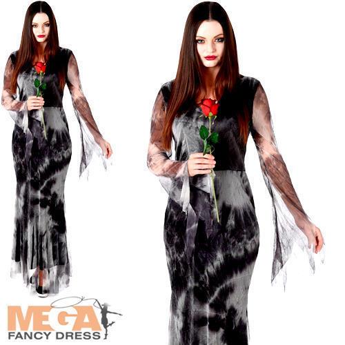 Haunted fantasma viuda Damas Halloween Elaborado Vestido de Disfraz de miedo para mujer adultos