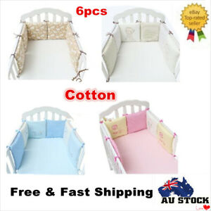 Baby 6pc Cot Bumper Bedding Set