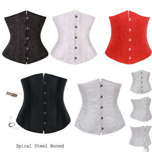 fd84616bf5 Image is loading Women-Waist-Training-Underbust-Corset-Lace-Up-Bustier-