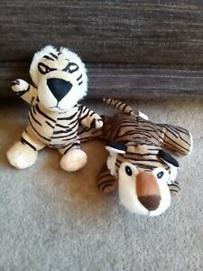 2-Soft-Bodied-7-034-Tiggers-Plush-Toys-In-Excellent-Condition