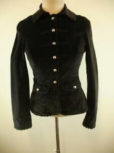 Giacca Black Steampunk Velvet House militare 4 Womens Market White Gothic UwXqUrH