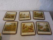 6 coasters Pimpernel dessous de verre collection vintage oiseaux birds foret