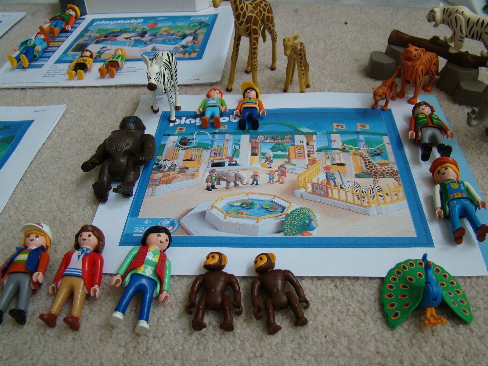 Playmobile Zoo Set  3240 Plus Sets  3238,  3135,  3241 and  3239