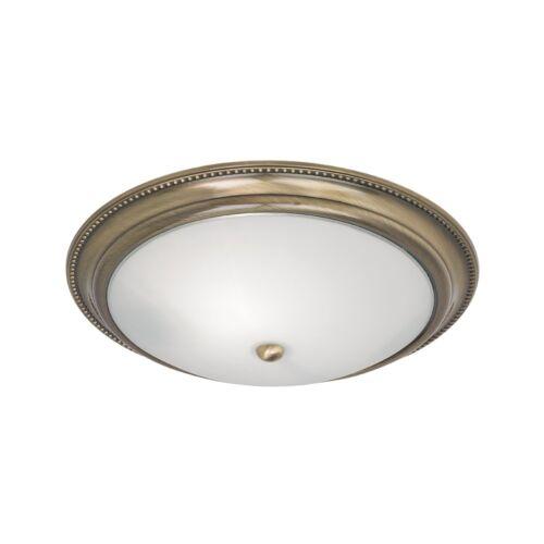 Endon 91121 encastré lumière en laiton antique avec verre opale