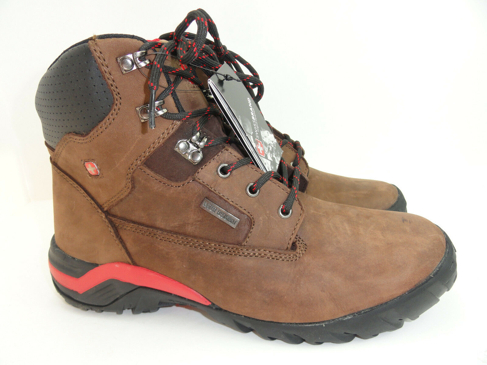 Swissbrand Women's Drumsen Water Resistant HikingTrail Brown Boots Size 11