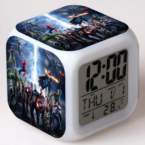 Avengers 3 Infinite War Bunt LED Alarm Wecker Best Geschenk