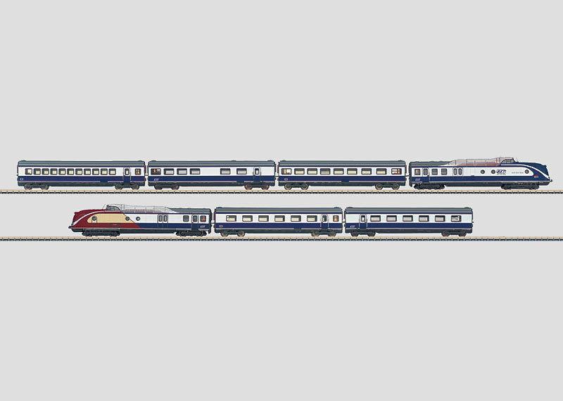 Scala Z 88735 Diesel Convoglio 601 blu Star Treno Mhi Limitato Nuovo