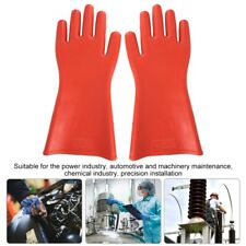 12kv High Voltage Proof Rubber Insulated Gloves Safety Electrical Protective