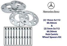 Mercedes Benz Wheel Spacers Kit 5x112 (2) 5mm & (2) 15mm Fits: W203 W209 W210