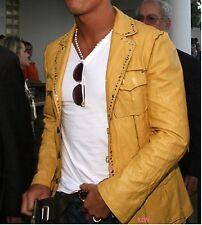 New Designer Celebrity Lambskin Leather Blazer For Stylish Looking Men EHS M- 04