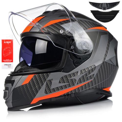 LS2 FF800 Storm Racer Matt Integralhelm Sonnenblende Motorradhelm Vision Pinlock