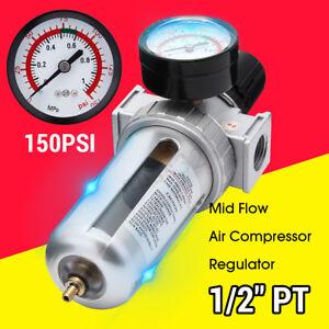 1//2 Air Compressor Compressed Air Filter//Pressure Regulator combo W//gauge