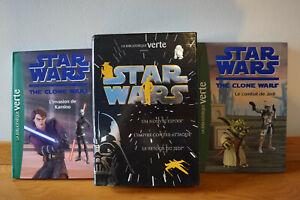 Détails sur Lot de 5 livres Star Wars the clone Wars La bibliothèque verte