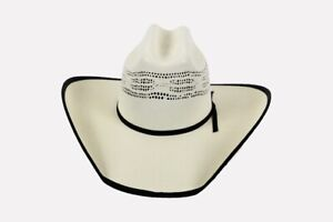 COWBOY-HAT-Western-BOUND-BANGORA-Straw-Ventilated-Crown-4-034-Brim-Rodeo-Vent