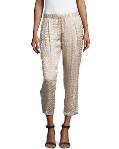 Haute Hippie Animal-Print Textured Pants, Buff $395 L