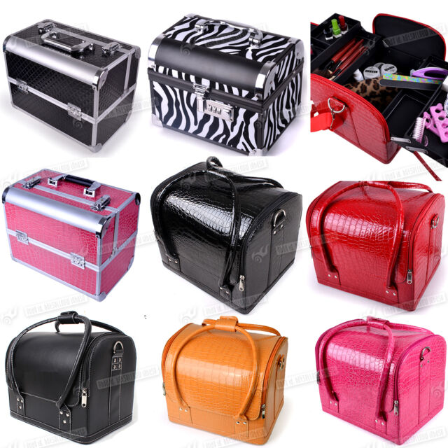 Beauty Box Cosmetic Makeup Vanity Jewellery Salon Nail Hair Case Storage Bag NEW