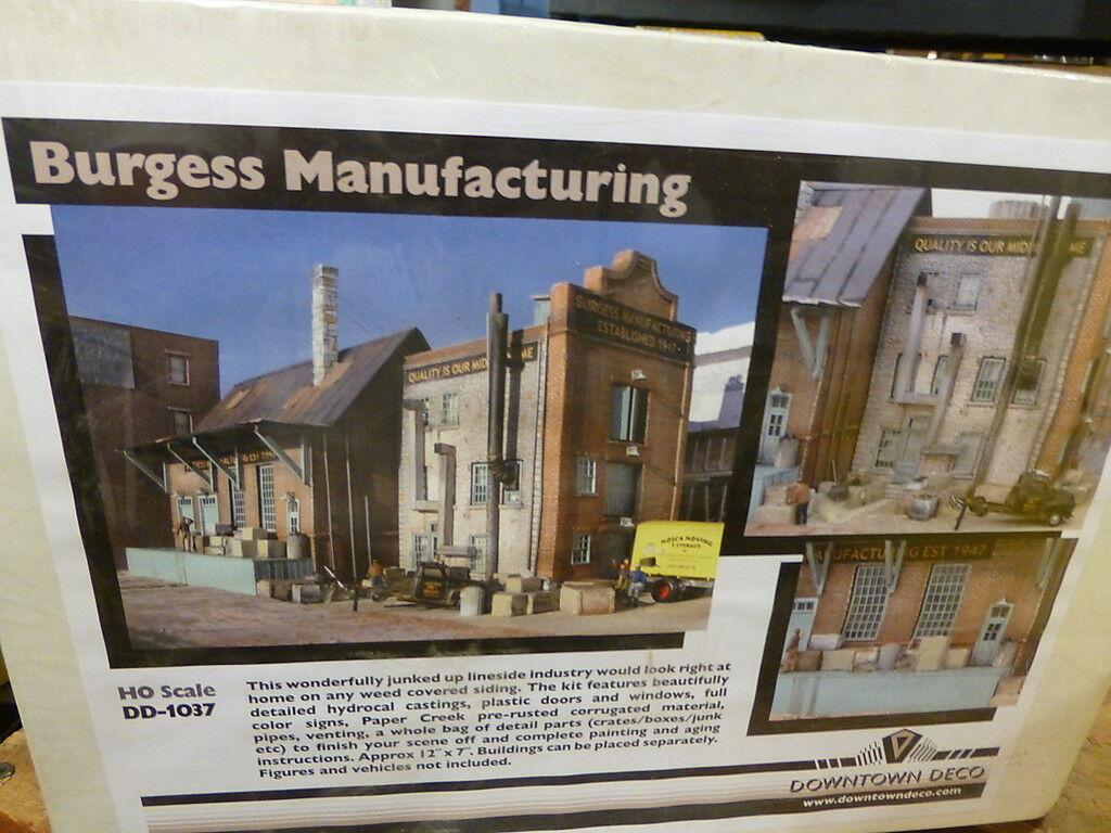 Downtown Deco HO  DD1037 Burgess Manufacturing Kit -- 12 x 7  (Plaster Kit)
