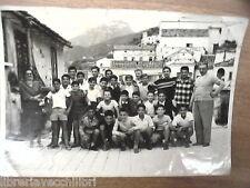 Vecchia foto bn di scolaresca SALERNO scuola media II^D centro storico classe