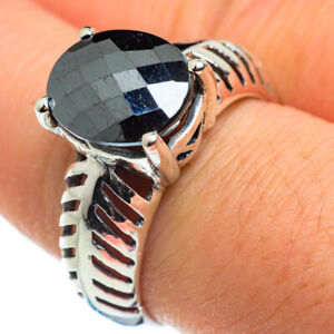 Hematite-925-Sterling-Silver-Ring-Size-9-Ana-Co-Jewelry-R46379F