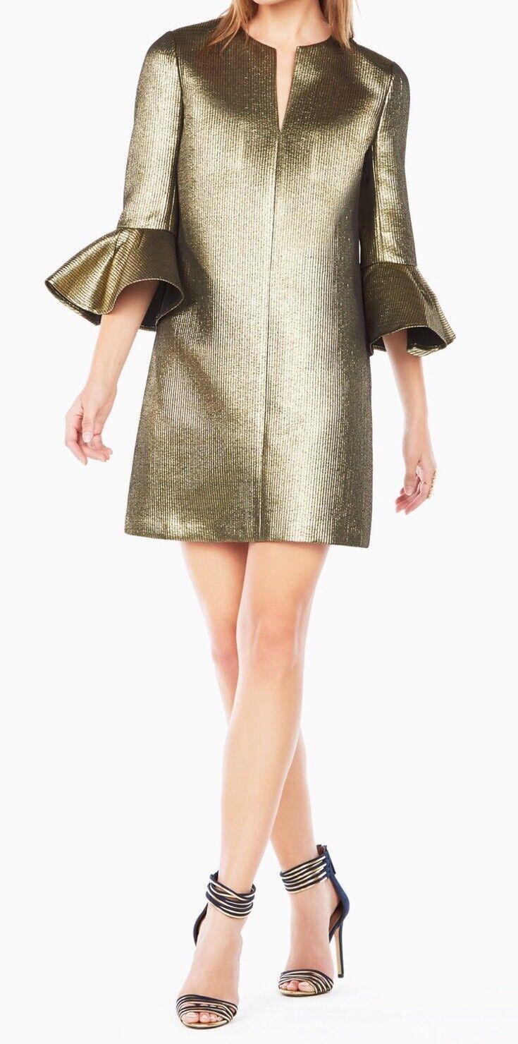 NEUF avec étiquette  368 BCBG MAX AZRIA Judy Métallique B2133 Dress Sz M