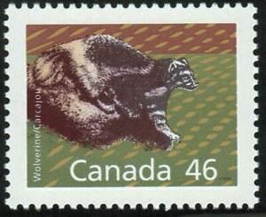 Canada-sc-1172A-Wildlife-Mammals-Wolverine-Perf-13x13-Mint-NH