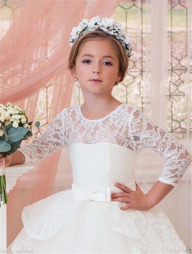Communion Party Prom Princess Pageant Bridesmaid Wedding Flower Girl Dress