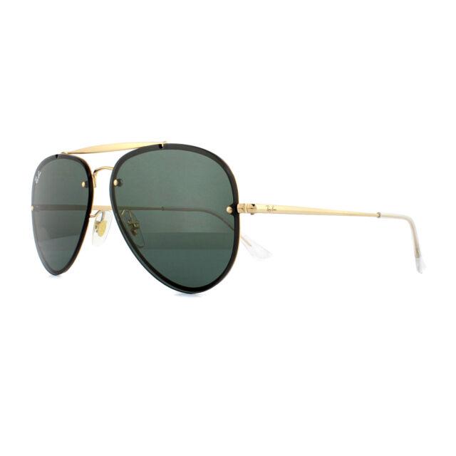 150c10f2066 Ray-Ban Sunglasses Blaze Aviator 3584N 905071 Gold Dark Green 58mm