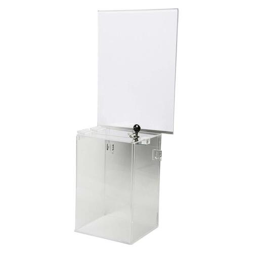 Locking Ballot Box and Header Suggestions Donations 6w x 9h x 5d Qty 1