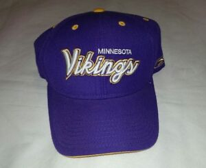 363322f4 NFL Minnesota Vikings Football Cap Hat Purple Reebok New | eBay
