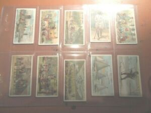 1904-Players-British-Empire-Series-Set-Tobacco-50-cards-complete-very-RARE