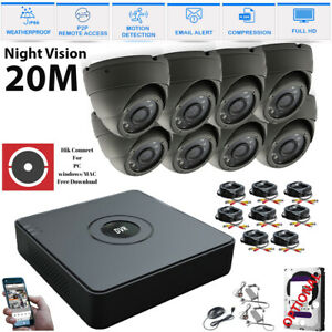 4CH-8CH-HD-CCTV-SYSTEM-1080P-CAMERA-KIT-WHITE-GREY-DOME-HOME-SECURITY-RECORDER