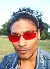 Red 90s Y2K Style rimless vintage