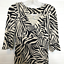 miniature 2 - Diane von Furstenberg Silk Dress Sz 2 Zebra Print 3/4 Sleeve V Neck Sheath