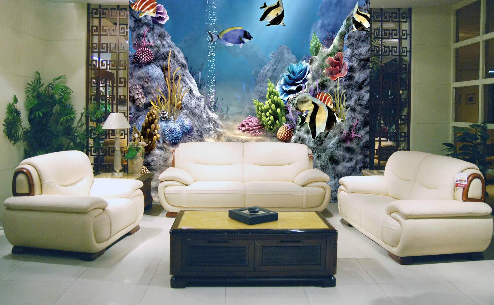 3D U - Stiefel -, Fisch 6283 Fototapeten Wandbild Fototapete BildTapete Familie DE